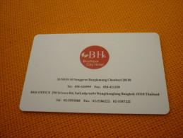 Thailand BH Boutique City Hotel Room Key Card - Origine Inconnue