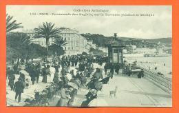 """Dpt  06  Nice  """"  Promenade Des Anglais , Sur La Terrasse Pendant La Musique  """" - Nice"""