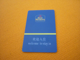 China Yantai Best Western Hotel Room Key Card - Phonecards