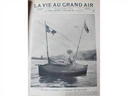 1903 CALAIS A DOUVRES DERRIERE UN CERF VOLANT / MOTOCYCLE CLUB / L'AERONAT LEBAUDY / SAISON DE TENNIS - Newspapers