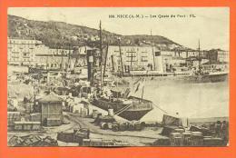 """Dpt  06  Nice  """"  Les Quais Du Port """" - Transport Maritime - Port"""