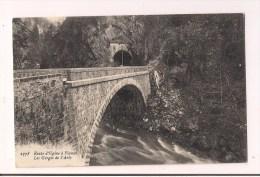 """- 73 - Gorges De L'Arly: Route D'Ugine à Flumet - Cpa """" La Plus Belle """" - - Otros Municipios"""