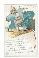 13244 - Enfant Avec Vase Très Beau Texte... - Humour