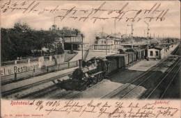! 1906 Alte Ansichtskarte Aus Radebeul, Bahnhof, Eisenbahn, Dampflok VIII, Sachsen - Radebeul