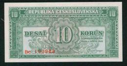 Czechoslovakia 10 Koron 1950  Pick 69s UNC - Tchécoslovaquie
