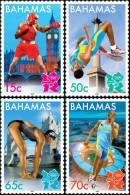 Bahamas - Boxe, Athlétisme, J.O. London 2012 - 4v Neufs // Mnh - Eté 2012: Londres