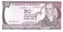 Colombia - Pick 425 - 50 Pesos Oro 1986 - Unc - Colombia