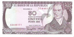 Colombia - Pick 425 - 50 Pesos Oro 1986 - Unc - Colombie