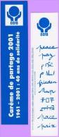 Marque-page °° Religion ° CCFD Carême De Partage 2001 - 40 Ans De Solidarité  °-°   5 X 20 - Bookmarks