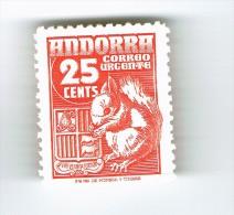 TIMBRE ANDORRE ESPAGNOL URGENT  1948-53 - Andorre Espagnol