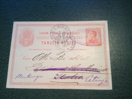 Venezuela Postal Stationery Card 1894 From Valencia > Otto Bickel SAN MARINO > CETINJE, MONTENEGRO RR! (cover Lettre) - Venezuela