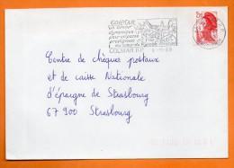 68 COLMAR UN AVENIR DYNAMIQUE          9 / 11 / 1989  Lettre Entière  N° P 957 - Poststempel (Briefe)