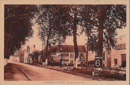 CARTE POSTALE ORIGINALE ANCIENNE : PONT SUR YONNE ;  FAUBOURG DE SENS ; GARAGE ; POMPES A ESSENCE ; HUILES ; YONNE (89) - Pont Sur Yonne