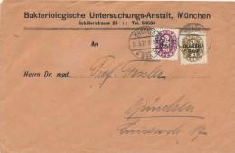MÜNCHEN - 1921 , Bakteriologische Untersuchungs-Anstalt  ...  -  Dispatch: Big Letter - Officials