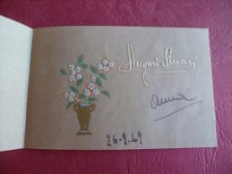 Biglietto Auguri Dipinto A Mano 1949 - Non Classificati