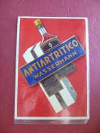 Etichetta/pubblicità Antiartritico Wassermann Liquore Milano Lombardia - Alcolici
