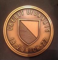 Médaille – CREDIT LYONNAIS - 1977 - Professionnels / De Société
