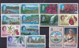 1966 Grenada - Definitives 14v., Landscapes, Views, Flowers, Trees, Ship Mi 202/15 Sc 215/28 Yv 200/213 MLH - Grenada (...-1974)