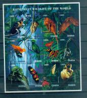 BOX-04 Ghana 1996 Animal Rainforest Souvenir Sheet MNH02 - Timbres