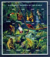 BOX-04 Ghana 1996 Animal Rainforest Souvenir Sheet MNH - Timbres