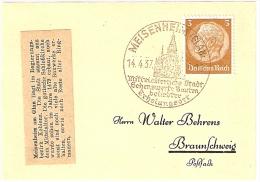 Briefstück 14.4.37 MEISENHEIM (GLAN) Mittelalterliche Stadt Sehenswerte Bauten Beliebter Erholungsort Nach Braunschweig - Allemagne