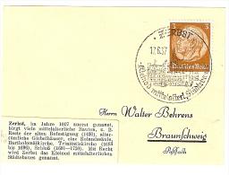 Briefstück 14.4.37 SÄCKINGEN Tannenwälder Mineralquellen Nach Braunschweig 3 Pf. Hindenburg - Briefe U. Dokumente