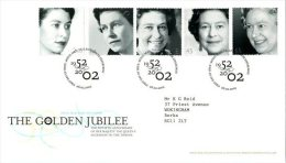 GROSSBRITANNIEN GRANDE BRETAGNE GB 2002 GOLDEN JUBILEE FDC SG 2253-57 MI 1981-85 SC 2017-21 YV 2301-05 - 1952-.... (Elizabeth II)