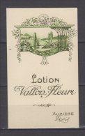 Carte Parfumée - Lotion Vallon Fleuri - Auzière - Paris - Antiquariat (bis 1960)