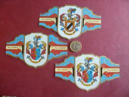 Lotto 3 Etichette Sigari ALVARO Heraldica Espana Spagna - Etichette