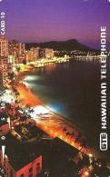 USA HAWAII 10 UNITS DIAMON HEAD AND WAIKIKI BEACH AT NIGHT TAMURA 1993 USED READ DESCRIPTION - Hawaii