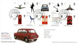 GB 2009 BRITISH DESIGN CLASSICS FDC SG 2887-96 MI 2693-702 SC 2615-24 IV 3080-89 - 1952-.... (Elizabeth II)