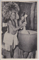 Cameroun - Inneres Eines Kumbo-Trinkhauses Affranchissement Timbre British Nigéria 1937 Cancellation Hamburg-Kamerun - Cameroon