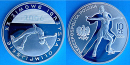 POLAND 10 Z 2006 ARGENTO PROOF SILVER WINTER OLYMPICS TORINO PESO 14,14g TITOLO 0,925 CONSERVAZIONE FONDO SPECCHIO UNC. - Polonia