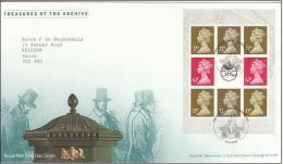 GB 2009 FROM TREASURE OF THE ARCHIVE PRESTIGE BOOKLET PANE FDC ~ TALLENTS HOUSE - 1952-.... (Elizabeth II)