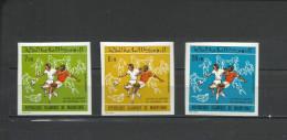 MAURITANIA   Football Soccer World Cup 1974   3v. Imperf.  Rare! - Coppa Del Mondo