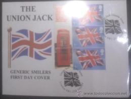 GB 2008 UNION JACK FROM GENERIC SMILER FDC - 1952-.... (Elizabeth II)