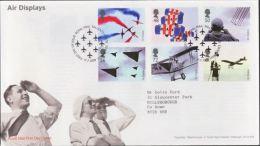 GB 2008 AIR DISPLAYS FDC USED SG 2855-60 MI 2658-63 SC 2587-92 IV 3036-41 - 1952-.... (Elizabeth II)