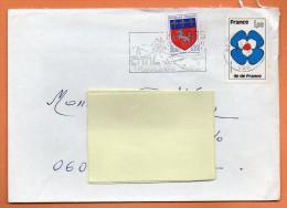 MAURY N° 1995   ILE DE FRANCE     Lettre Entière N° M 346 - Marcophilie (Lettres)