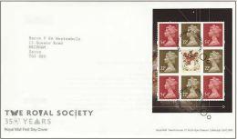 GB 2010 FROM THE ROYAL SOCIETY PRESTIGE BOOKLET (CARNÉ) PANE ON FDC - 1952-.... (Elizabeth II)