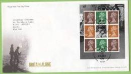 GB 2010 FROM BRITAIN ALONE PRESTIGE BOOKLET (CARNET) PANE ON FDC - 1952-.... (Elizabeth II)