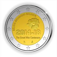 "BELGICA BELGIUM     2€ Bimetálica    2.014  2014   SC/UNC   ""100 Años Comienzo 1ª Guerra Mundial""  T-DL-11.297 - Bélgica"
