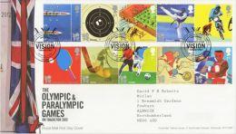 GB 2010 OLYMPIC AND PARALYMPIC 2012 GAMES FDC SG 3097-106 MI 2977-86 SC 2815-24 IV 3363-72 - 1952-.... (Elizabeth II)