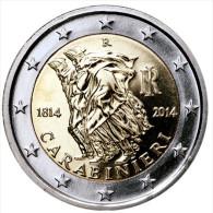 """ITALIA  2€  2.014/2014  SC/UNC BIMETALICA    """"200 Aniversario De Los CARABIBIERI""""  T-DL-11.049 - Italy"""