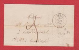 A  //  Lettre //  De Thann  //  Pour Montbeliard  //  23 Juin 1846 - Marcophilie (Lettres)