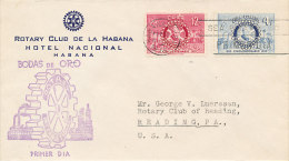 DRO-002 - ROTARY FDC 1955 - CUBA - Rotary, Lions Club