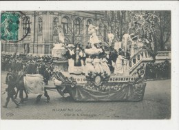 PARIS MI CAREME 1908 CHAR DE LE CHAMPAGNE CPA BON ETAT - France