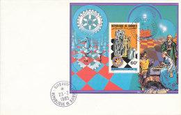 DRO-014 - ROTARY FDC 1985 - DJIBOUTI -  CHESS - Chess