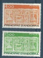 """Andorre YT 346 & 347 """" Série Courante """"1986 Neuf** - French Andorra"""