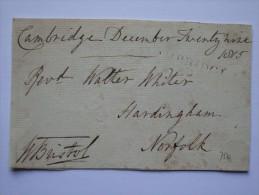 GB 1815 PIECE WITH HARDINGHAM NORFOLK MARK - Great Britain