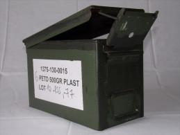 CAISSE DE MUNITIONS EN METAL ARMÉE FRANCAISE - N°3 - FRENCH ARMY AMMUNITION BOX - Equipement
